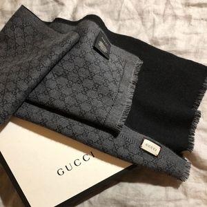 Gucci Scarf (Black/Grey)